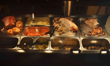 Sunday carvery with vegan & vegetarian options by the sea at Happisburgh Halt