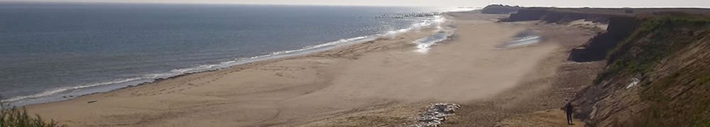 Happisburgh Beach, just a short walk from The Hill House Inn pub & restaurant