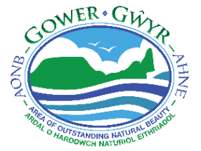 Gower Peninsula Area of Outstanding Natural Beauty logo