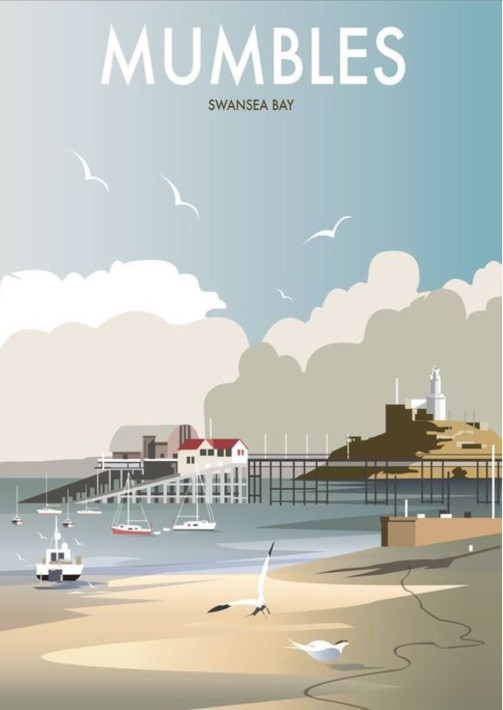 Mumbles Swansea Bay poster