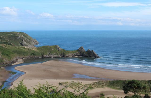 Gower Beaches - Three Cliffs Bay Gower