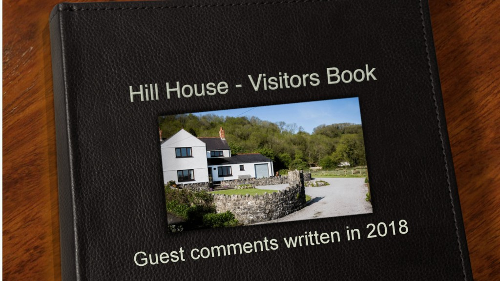 2018 Guest Book Gower Self Catering Holiday Cottage