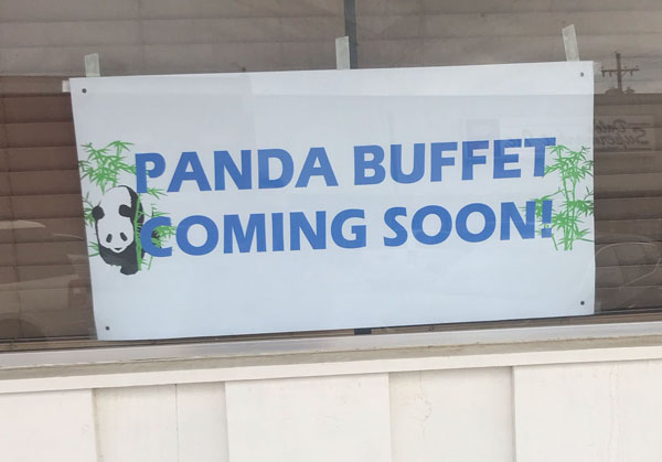 Panda Kitchen has closed but there is a sign for a new Chinese food restaurant coming to Hillsboro. Laura Fowler Paulus / Free Press