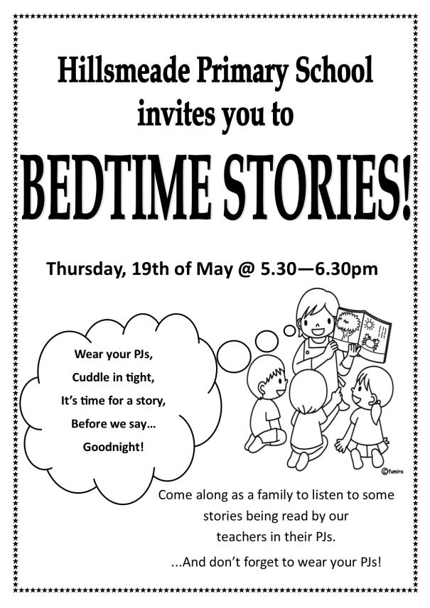 Bedtime Stories Flyer 2016