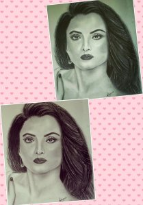 Sketch of Rekha Ji