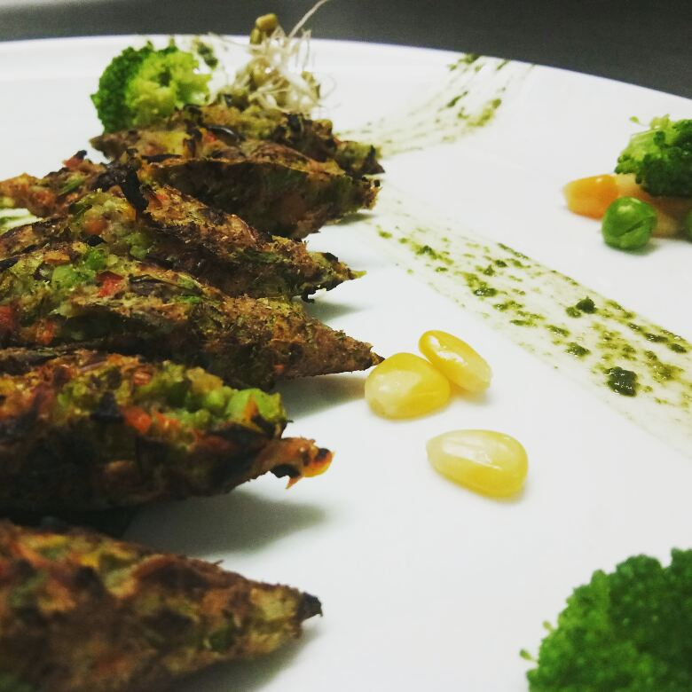 Tasty vegetarian seekh kebabs recipe
