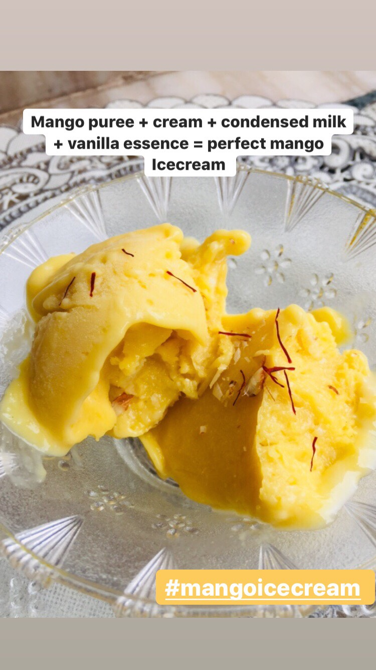 creamy and delicious restaurant style mango ice cream recipe