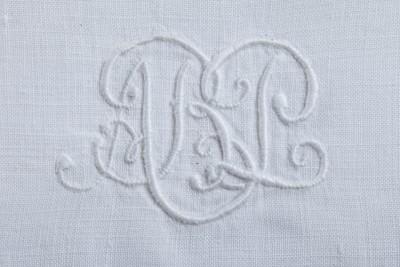 Hill-Stead Linens Utilitarian hand towels monogram