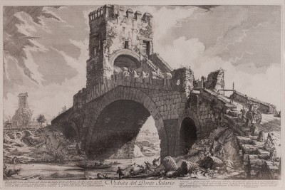 Hill-Stead Prints Piranesi Veduta del Ponte Salario