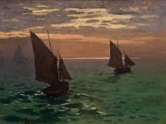 Fishing Boats at Sea, Claude Monet