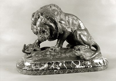 Lion with Serpent