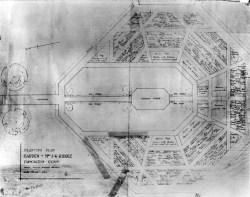 Beatrix Farrand's original planting plan for Hill-Stead