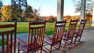 hill-stead veranda in early fall