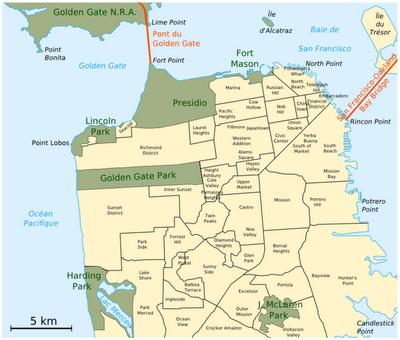 Mapa de San Francisco USA