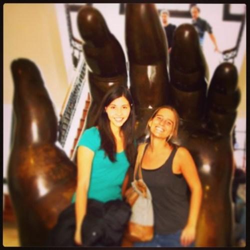 Andrea y yo en el Museo Botero, Bogotá.