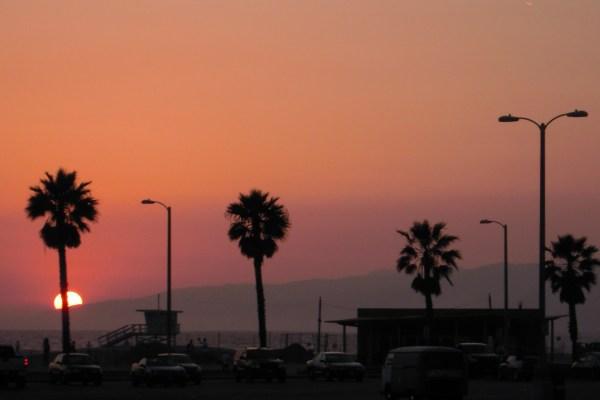 Atardecer en Santa Mónica, Los Ángeles.