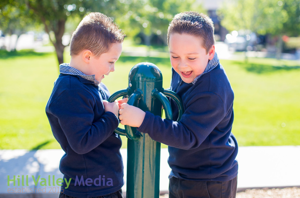 boys at the playground
