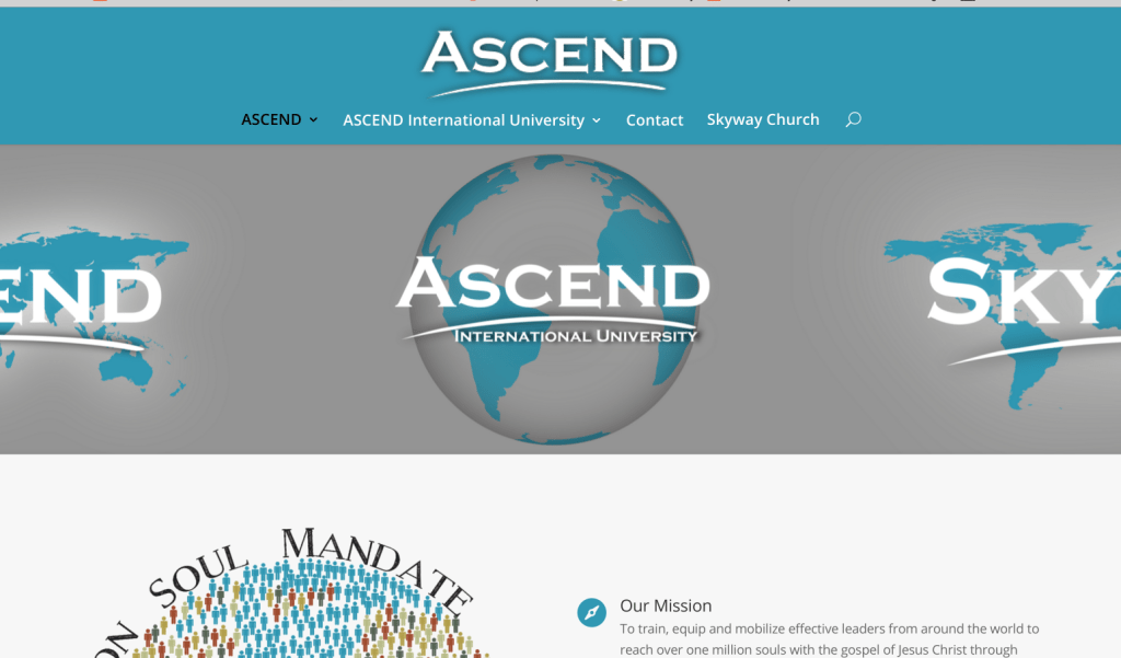 web design, website design, skyway, skyway church, skyway ascend, ascend international, ascend international university