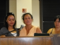 Barbara gives her heartfelt testimony with daughter Felicia alongside her.