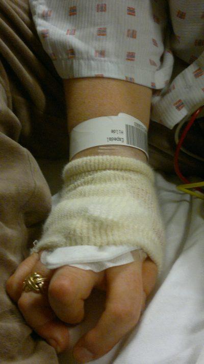 på sykehus med hjerneslag