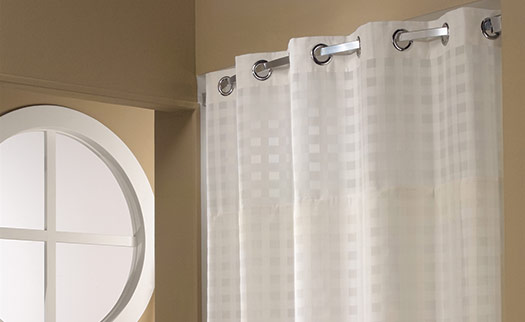 Basket Weave Hookless Shower Curtain Hilton To Home Hotel Collection