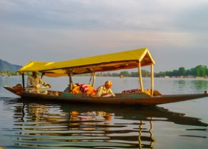 boat in a river srinagar