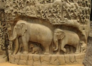 Carvings found on the Monuments at Mahabalipuram