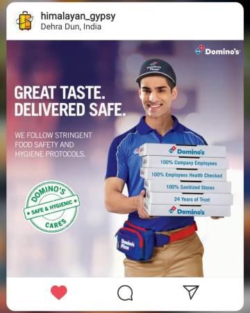 Dominos No Contact Delivery