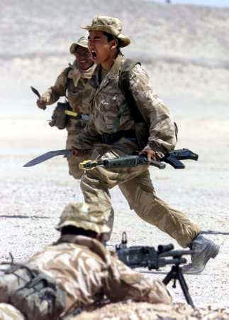 Gurkha Kukri Charge - Afghanistan Training 2001