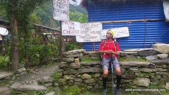 Yak chees break. Beathing during the ~1,600 meter climb up to Ghorapani