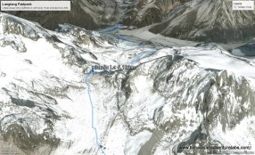 The pass in Google Earth