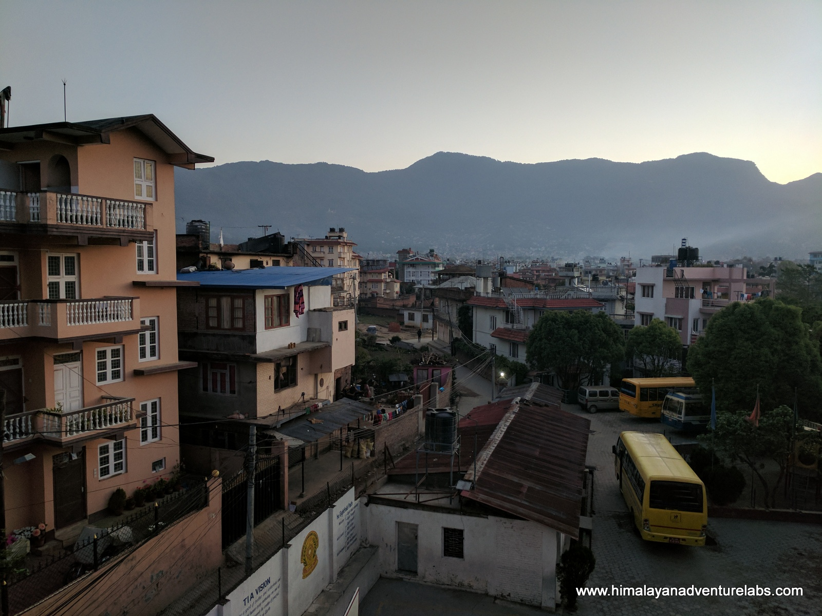 View of the first mountains we need to cross: Shiva Puri from Kathmandu