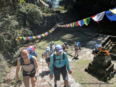 Climbing up through Shiva Puri - leaving Bagdwar, headwaters of the holy Bagmati River