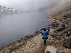 Descending to Gosaikund Lake