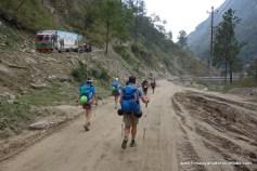 Final road walk