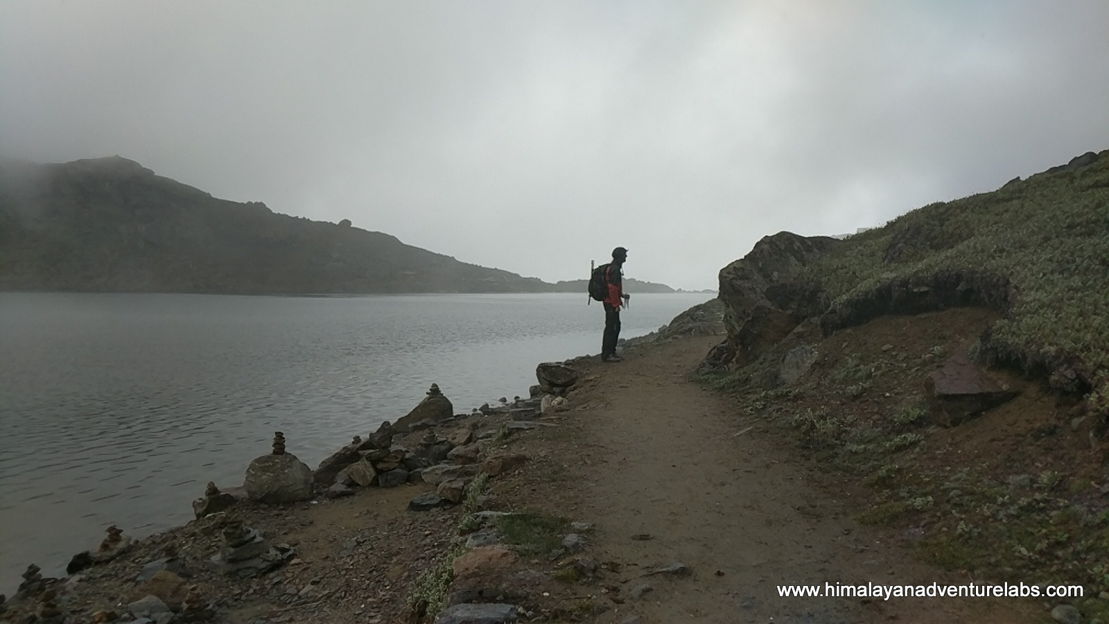 That's Jason at Gosaikund Lake - he gives me cookies. Legend says the Lord Shiva made this lake, so I am staying out of it!