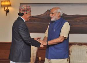 Kamal-Thapa-and-Narendra-Modi-shake-hands