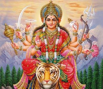 Parvati as Durga Devi