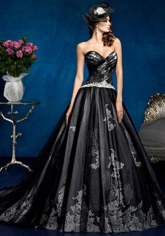 50 Beautiful Black Wedding Dresses You Will Love Hi