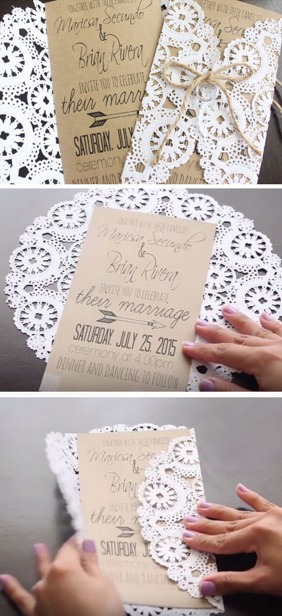 50 Unique Diy Wedding Invitation Ideas