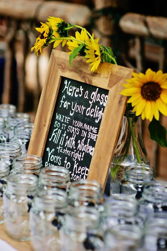 Summer Wedding Centerpieces Sunflowers