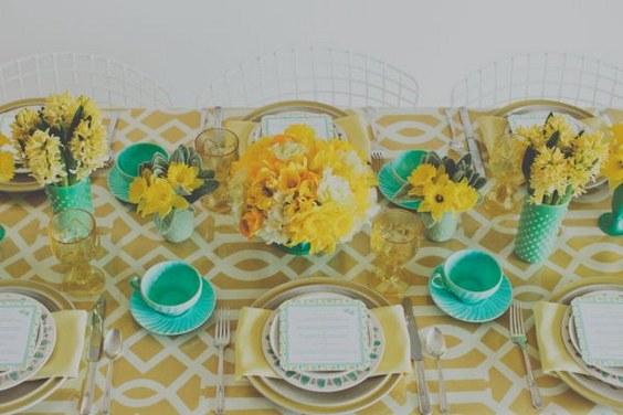 Eclectic Desert Inspired Yellow Teal Wedding Ideas Via Theeld Com