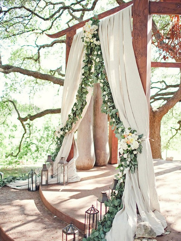 greenery eucalyptus wedding canopy backdrop