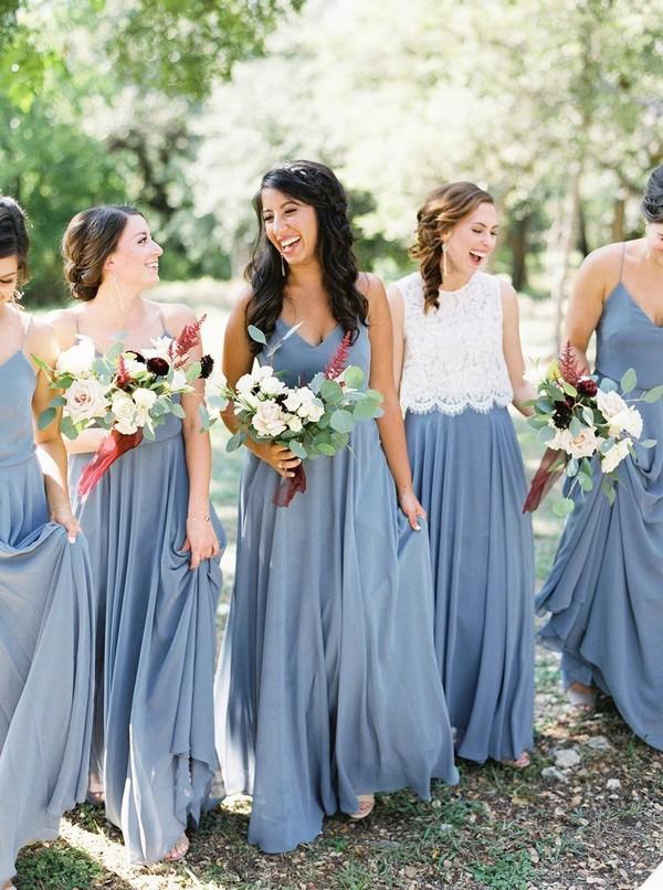 jenny yoo dusty blue bridesmaid dresses