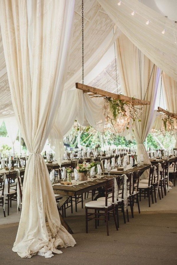 neutral wedding reception idea