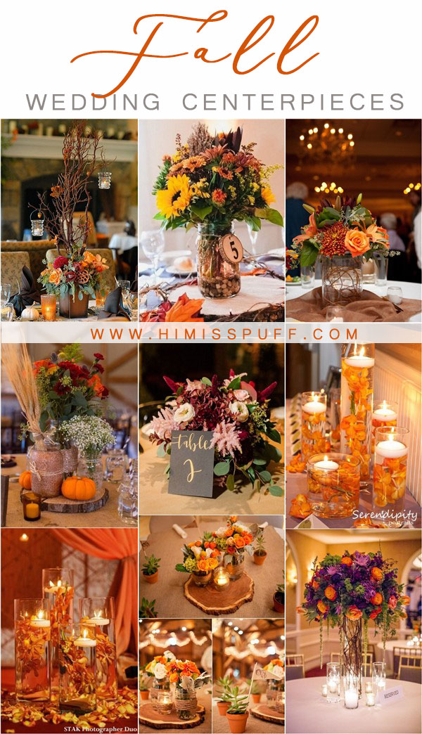 fall wedding ideas - fall wedding centerpieces