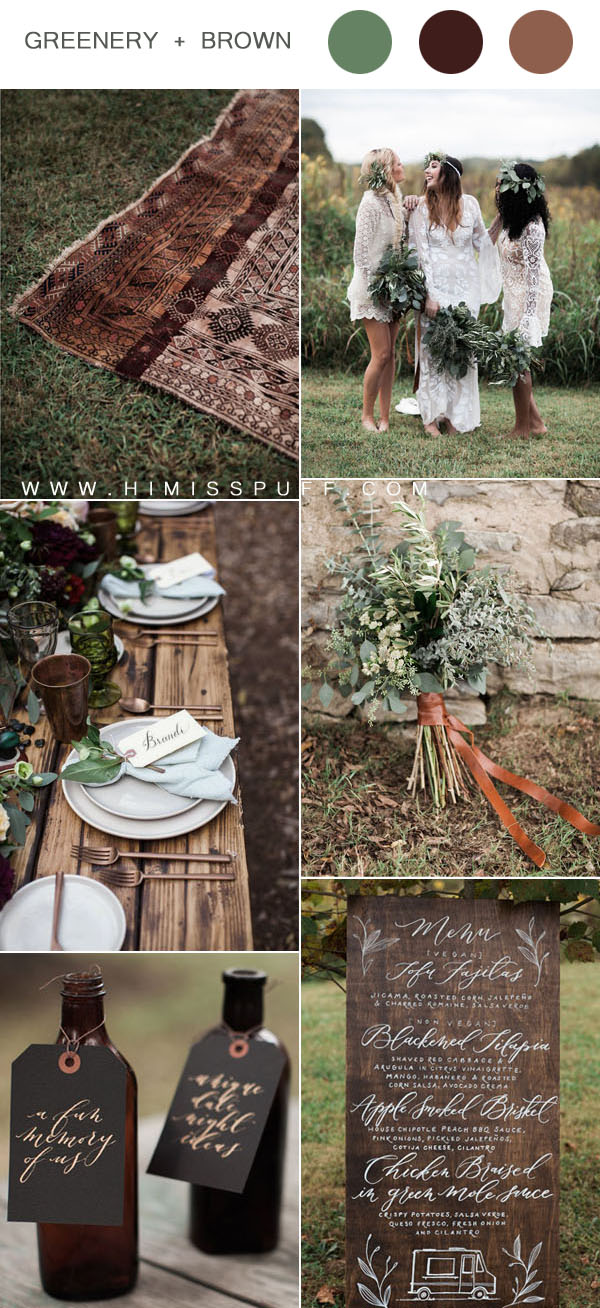 stylish rustic bohemian fall wedding ideas