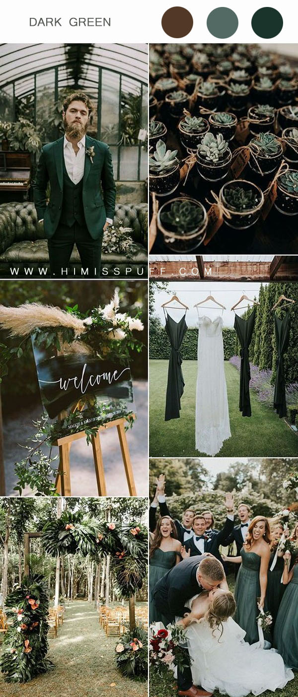 Green wedding sign outdoor wedding arch succulent wedding decor ideas