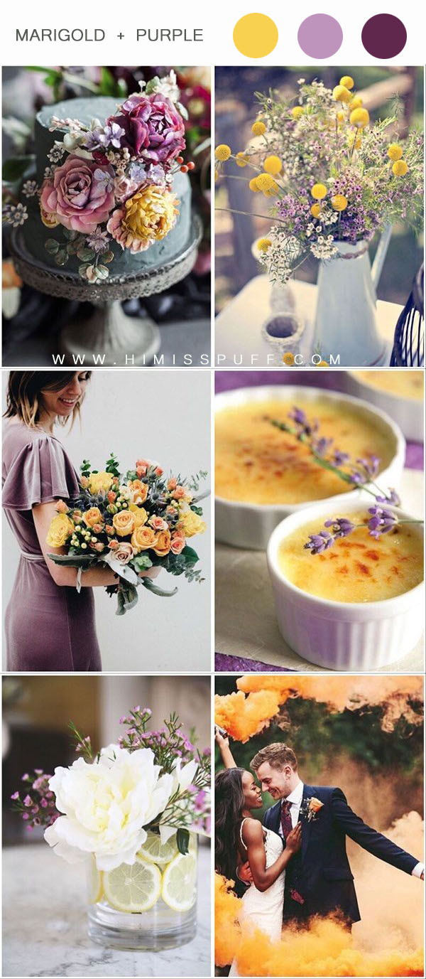 Yellow Wedding Summer Wedding Color Palette Purple Wisteria Wedding