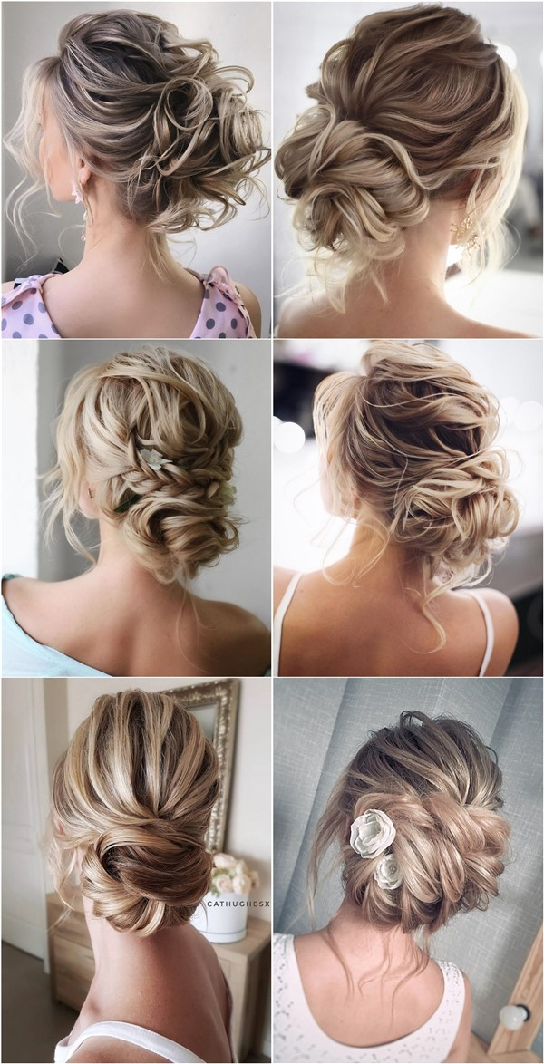 Messy updo wedding hairstyles for long hair